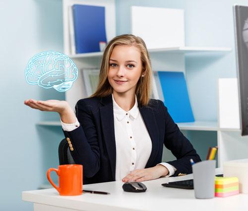 脳と人の写真